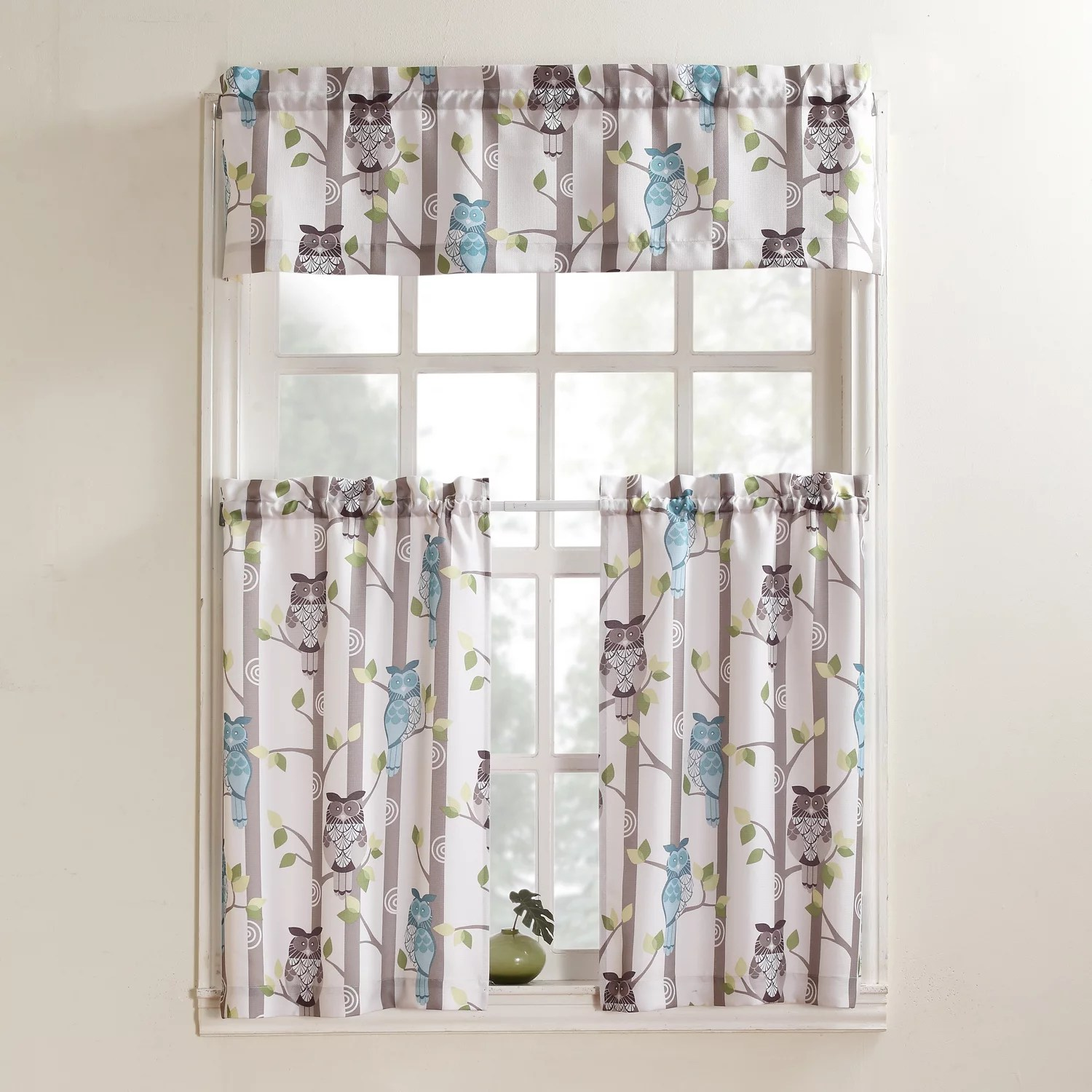 kitchen curtains kohls best tile for no918 drapes window treatments home decor kohl s no 918 hoot owl tier