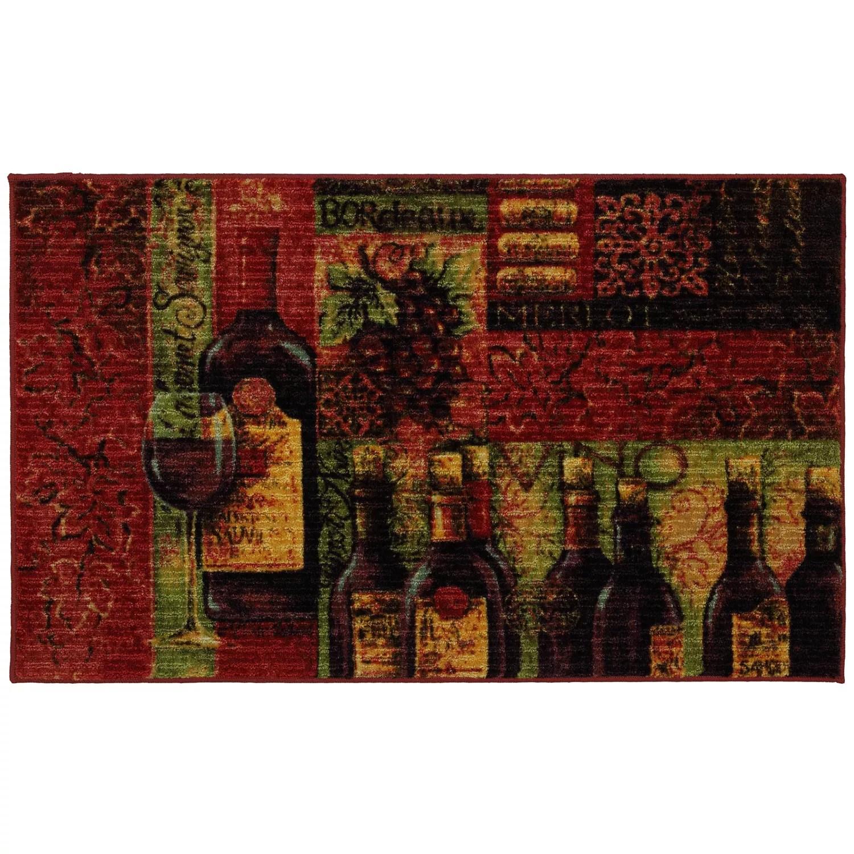 wine kitchen rugs red knife block set mohawk home rug