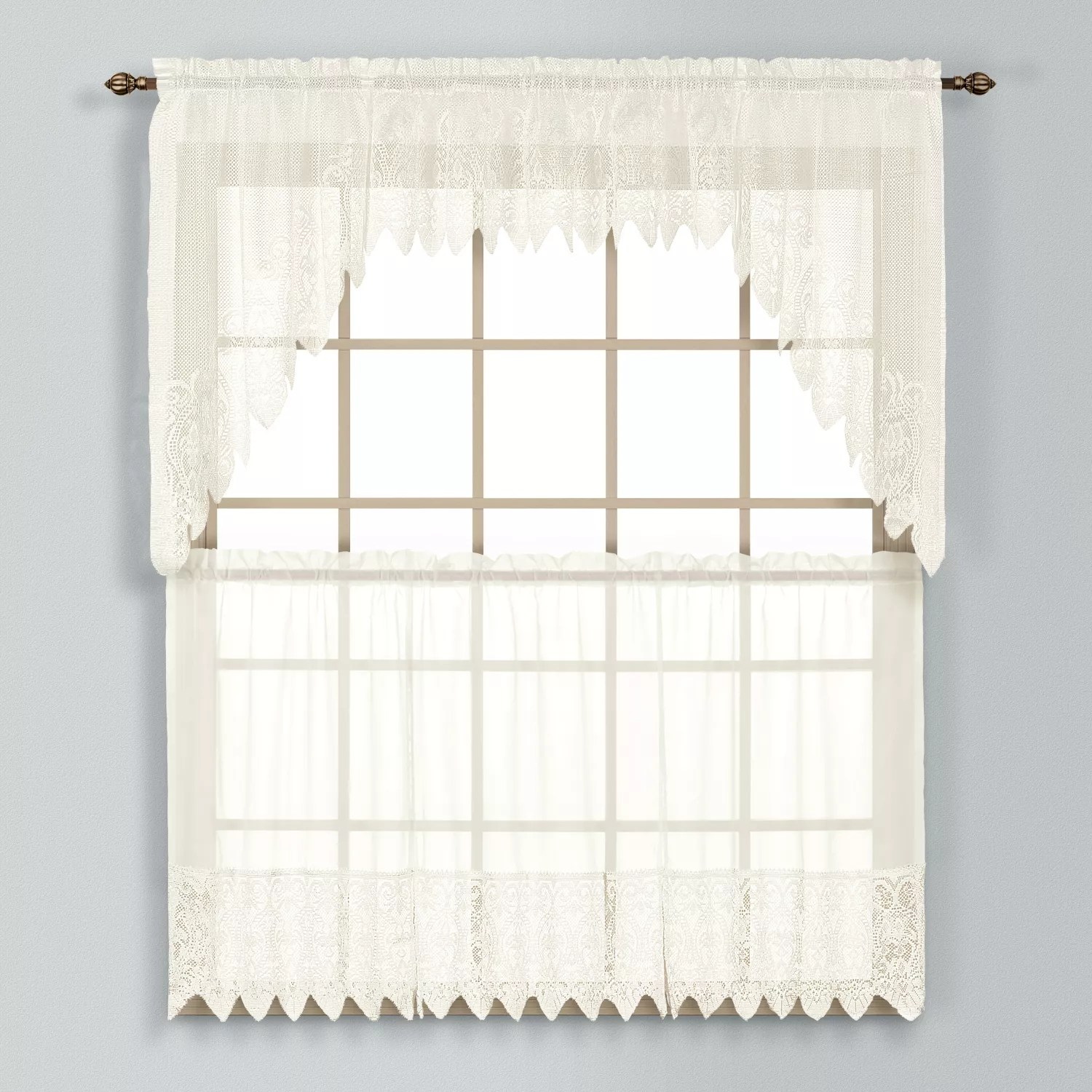 United Curtain Co Valerie Swag Tier Kitchen Curtains