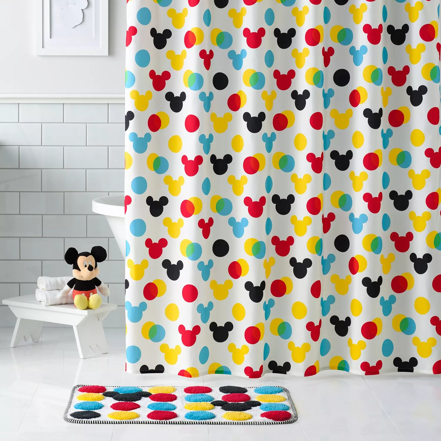 mickey mouse shower curtain collection