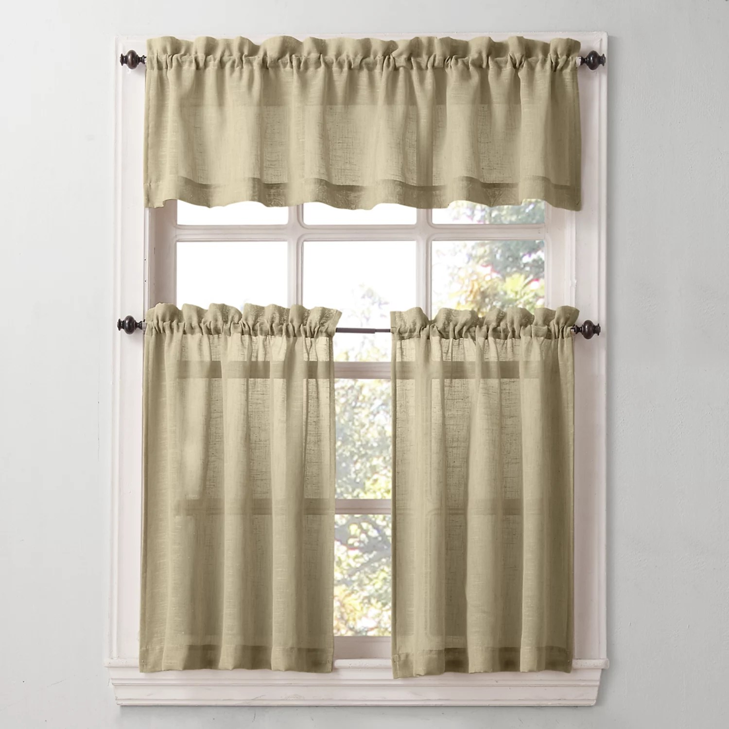 kitchen curtians cool cabinets sonoma goods for life curtains drapes window treatments ayden linen blend tier
