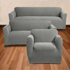 Stretch Morgan 1 Piece Sofa Furniture Cover Material Reclining Sure Fit Slipcover Collection