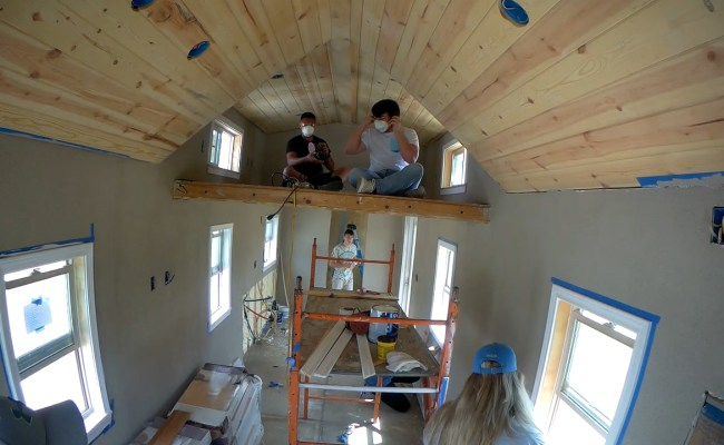 Warren Hs Students Get Hands On Learning Building Tiny Houses