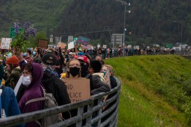 Organizers outlined 10 demands, including community oversight of the Juneau Police Department, calling on the local school district to upgrade educational and disciplinary policies and outlining how allies of black people can commit to anti-oppression work.