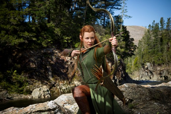 Evangeline Lilly som Tauriel Stillbildsfoto: James Fisher  ©2012 Warner Bros. Entertainment Inc. and Metro-Goldwyn-Mayer Pictures Inc.