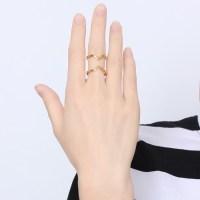 Titanium Unique Design Gold Promise Rings For Her ...