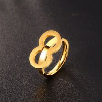 Titanium Simple Gold Promise Rings For Her - Lajerrio Jewelry