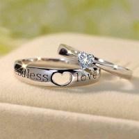 """Endless Love"" Heart Cut Gemstone 925 Sterling Silver ..."