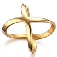 Titanium Beautiful Gold Promise Rings For Her - Lajerrio ...