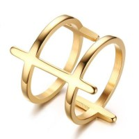 Titanium Nice Gold Promise Rings For Her - Lajerrio Jewelry