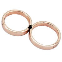 Hearts Together Rose Gold 925 Sterling Silver Matching ...