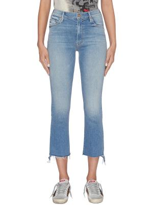 'The Insider Crop Step Fray' jeans