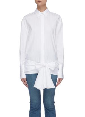 Bow tie front shirt