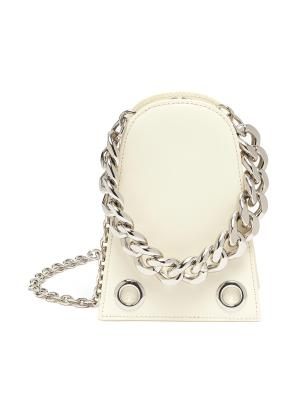 Chunky chain leather bell bag