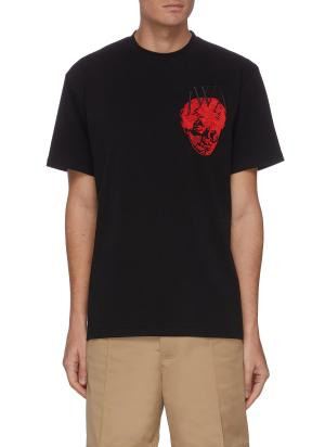 Pol Anglada embroidered face logo patch T-shirt