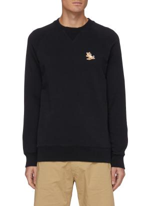 Chillax fox patch crewneck sweatshirt