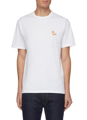 Chillax fox patch crewneck T-shirt