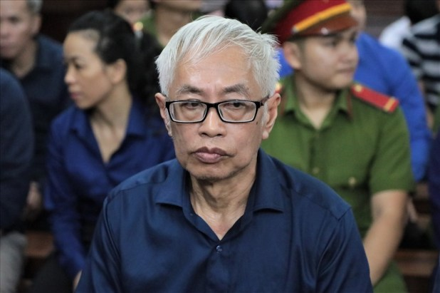 The defendant, Tran Phuong Binh, was tried for multiple offenses, including deliberate abuse in this case, abuse of power (former General Director of East Asia Bank), and harmed bank trillions. Picture: Truong Son