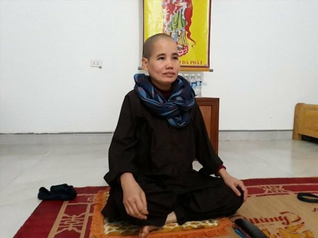 Sư thầy Thích Đàm Phú - Trụ trì chùa Tây Thiên - thông tin với PV về những bất ổn tại chùa.