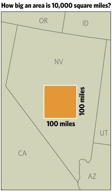 100 Square Miles : square, miles, Graphic, 10,000, Square, Miles