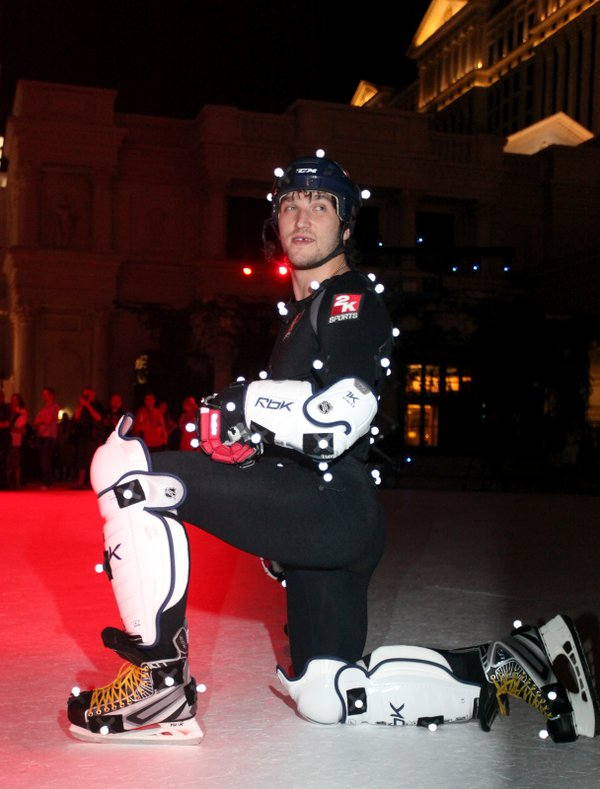 Alex Ovechkin suited up for a motion capture session as courtsey the Las Vegas Sun