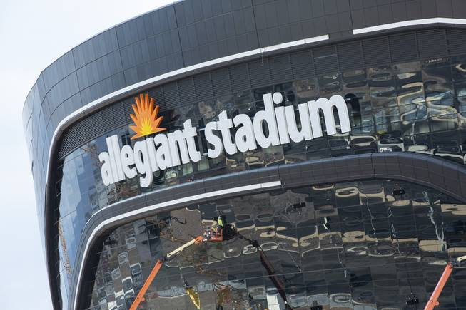 Allegiant Stadium Letters Go Up