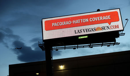 Las Vegas Sun boxing billboard