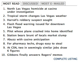 Las Vegas Sun most read