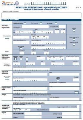 Nuovo Modello Registrazione Contratti Affitto Online
