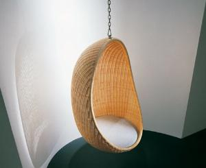 egg chair swing hanging black sedute sospese