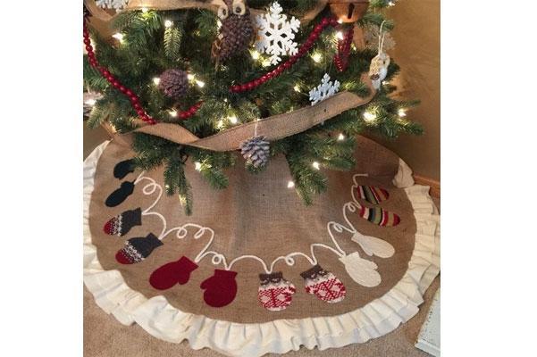 Il protagonista di natale è lui, l'albero. Albero Di Natale Shabby Chic