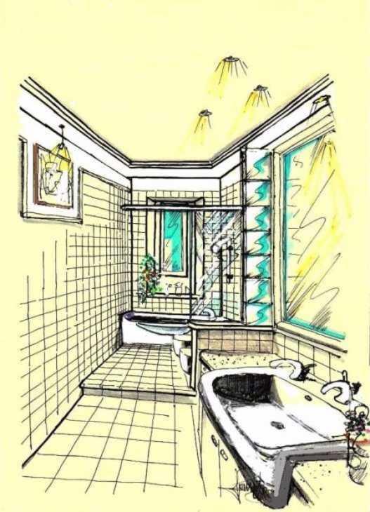Progetto Bagno 3d Gratis Progetto bagno di servizio e lavanderia Bagno piastrelle ceramica