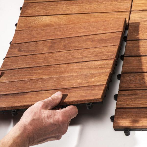 Pavimento in legno per esterni