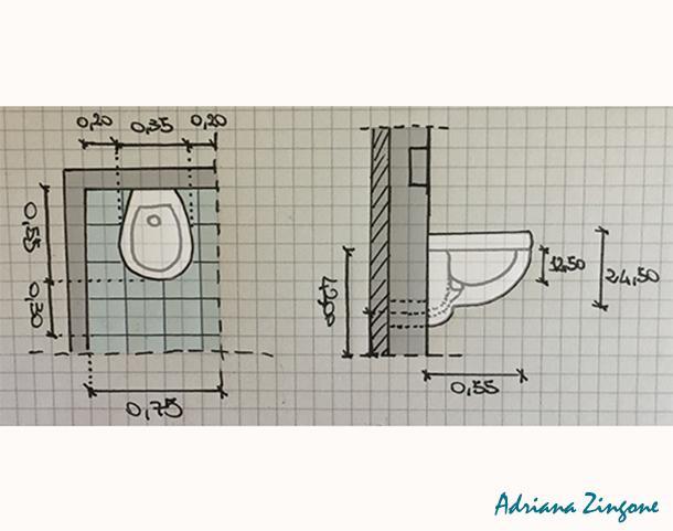 Mini bagno progetto idee decorazioni