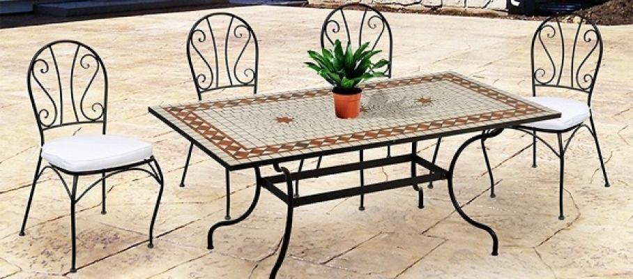 Tavoli Da Giardino In Ferro Battuto E Mosaico.Tavoli E Sedie Da Giardino In Ferro Tavoli Da Giardino In