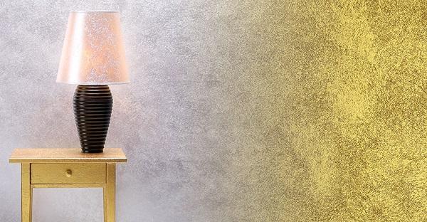 Alle pareti un aspetto raffinato ed elegante. Pittura Effetto Metallizzato Per Interni