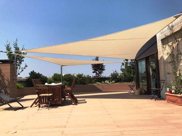 Tendalino parasole tenda da sole vela per giardino all'aperto spiaggia da campeggio. Vele Ombreggianti Per Il Giardino