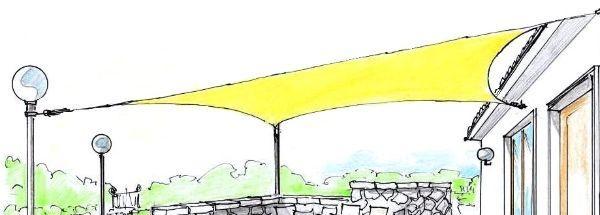 Tenda a vela ombreggiante quadrata 3x3m in giardino e piscine > arredamenti e giochi da giardino > ombrelloni e vele ombreggianti > vele ombreggianti. Vele Ombreggianti Per Il Giardino