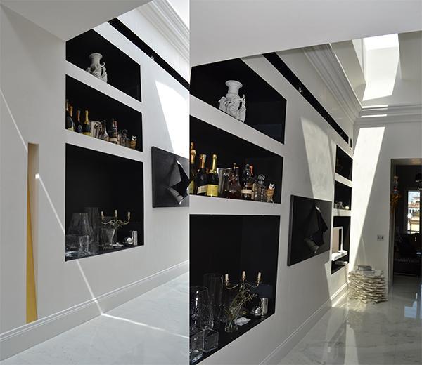 Realizziamo pareti attrezzate moderne in cartongesso per qualsiasi tipo di stanza, in particolare per cucine e soggiorni. Parete Attrezzata In Cartongesso Idee Originali