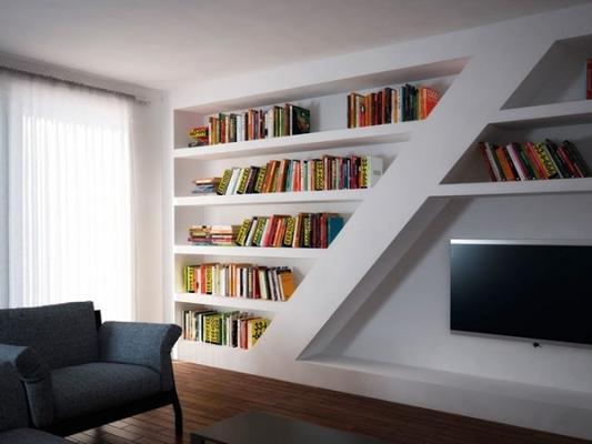 3) librerie e pareti attrezzate in cartongesso. Parete Attrezzata In Cartongesso Idee Originali