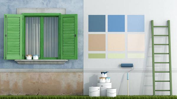 Pittura per strato di finitura, in dispersione acquosa, monocomponente, ad essiccamento fisico,. Pittura Ad Acqua Usi Per L Esterno E Per L Interno