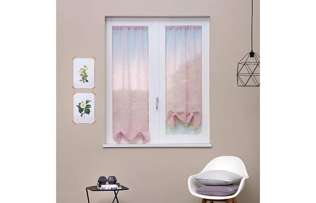 Paralumi in vetro bianco, rustica lampadario da camera da letto ø 68cm, 5 luci x 60w e14, 220v Tende A Vetro