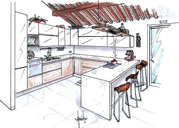 Per quello che riguarda il pavimento di un salotto con cucina open space la tendenza d'arredo ultimamente è quella di scegliere la stessa pavimentazione tra cucina e soggiorno. Progetto Cucina E Soggiorno 40 Mq