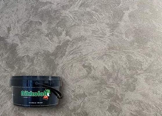 pittura decorativa materica con accenni metallizzati che ricrea la texture minerale della pietra tipo ardesia, 100% ecologica senza formaldeide. Pittura Sabbiata Applicazione E Prodotti