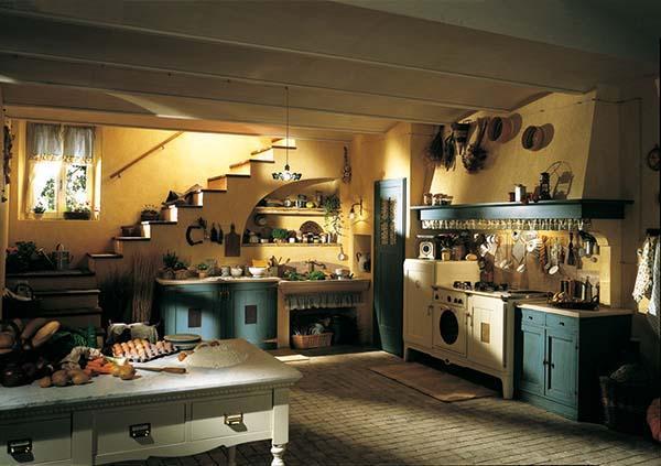 Una cucina di campagna in stile country è fatta principalmente di materiali naturali se poi, come in questa foto, lo spazio è impreziosito da muri lasciati. Cucine Country Unire Vecchio Stile E Tecnologia