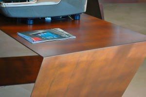 tavolo in corten, acerocorten