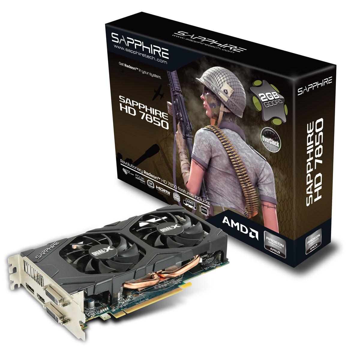 Sapphire Radeon HD 7850 OC Edition 2 Go - Carte graphique SAPPHIRE sur LDLC.com
