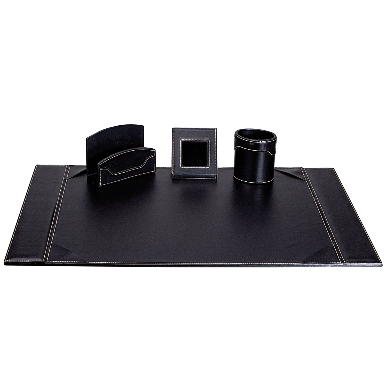 Carpentras Parure De Bureau Elyane Simili Cuir Noir Sous