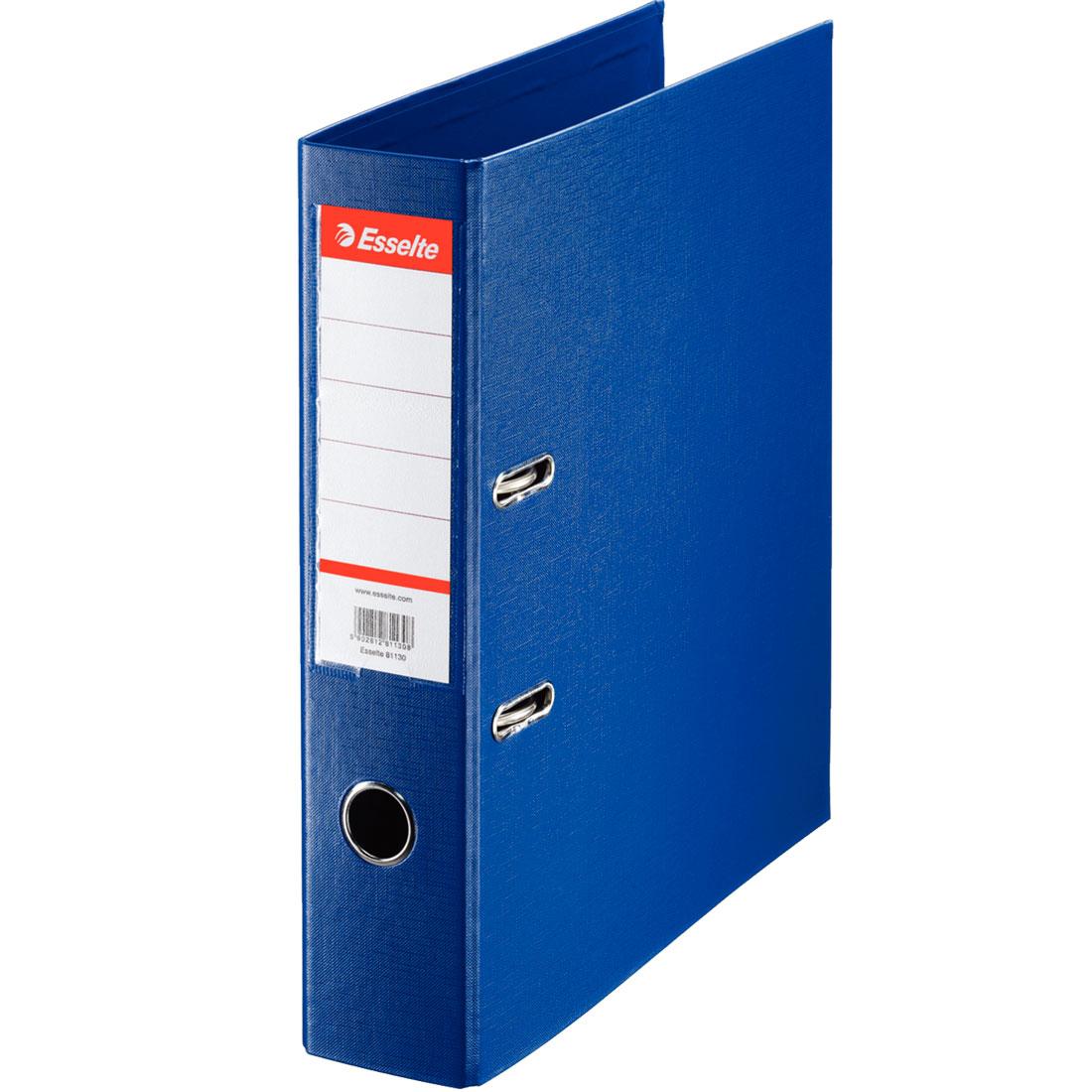 classeur esselte classeur a levier standard 2 anneaux dos 75 mm bleu classeur a levier standard