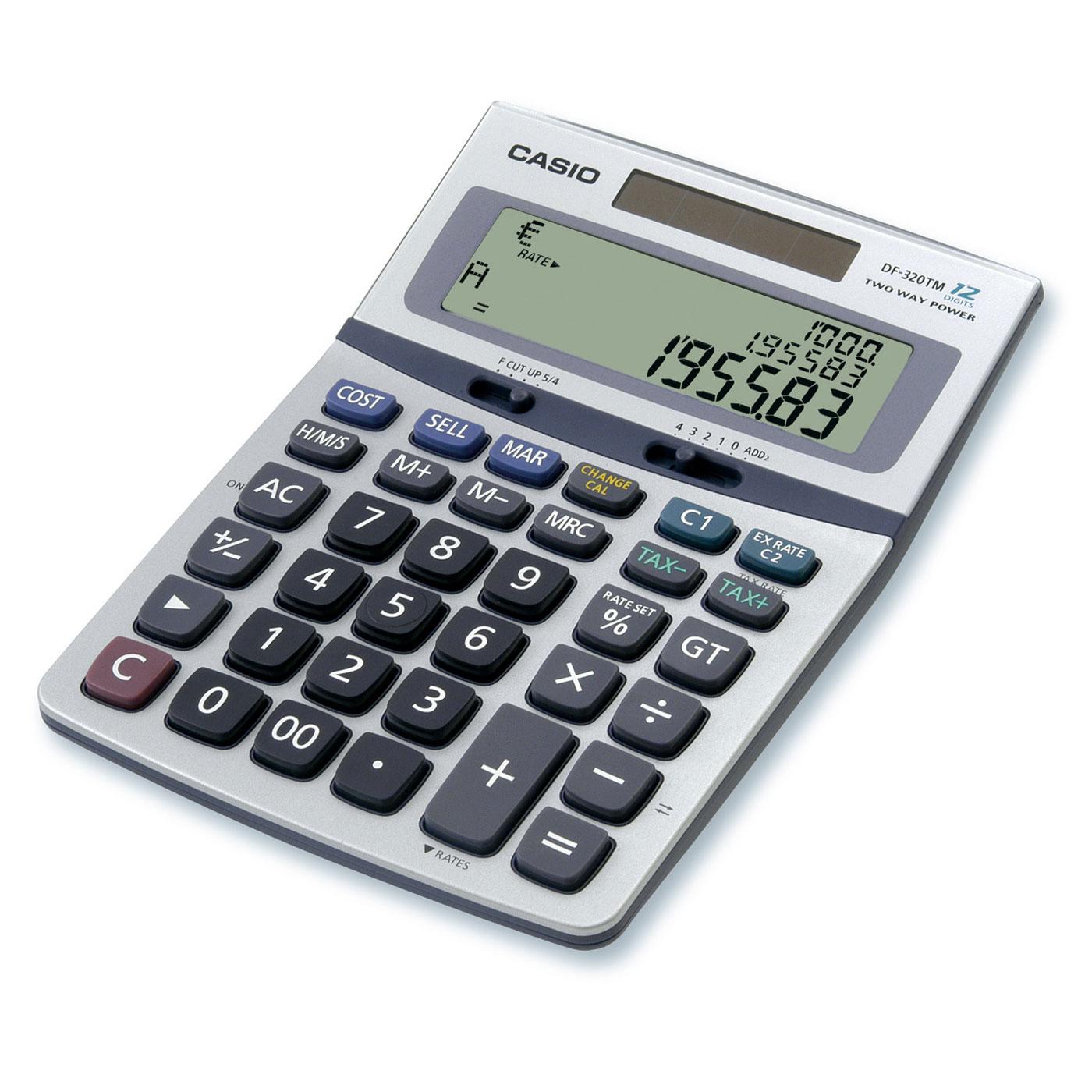 Casio DF 320TM Calculatrice De Bureau Calculatrice
